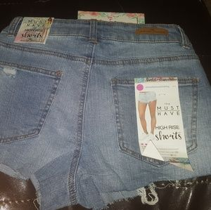 Almost famous size 7 high rise short shorts